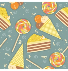 candies seamless pattern sweets color background vector image
