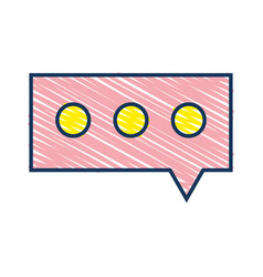 chat bubble graphic text message vector image