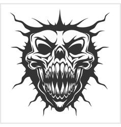 Horned skull - isolated on white vector image