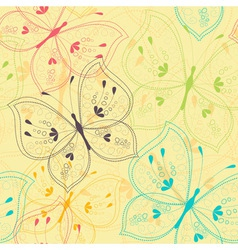 Seamless pattern with stylized butterflies vector image vector image