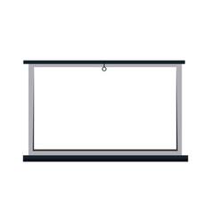 white board blank presentation equipment vector image