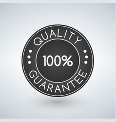100 quality guarantee sticker or label vector