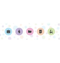 5 job icons vector
