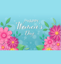 8 march floral greeting card vector