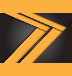 abstract yellow arrow speed direction on dark grey vector image