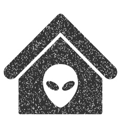 Alien Home Grainy Texture Icon vector