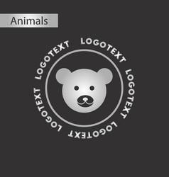 Black and white style icon bear logo vector