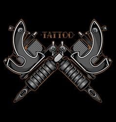 black and white tattoo machine vector image