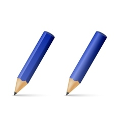 Blue wooden sharp pencils vector image