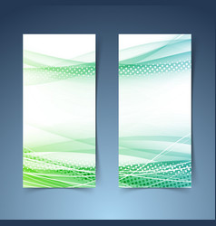 Bright green vertical web banner collection vector