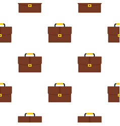 Brown business briefcase pattern flat vector