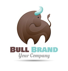 bull logo design Template for your business vector image