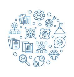 business goals circular in vector image