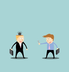 businessman repair ideas vector image