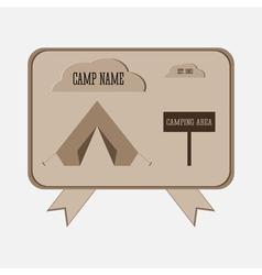 Camping adventure badge graphic design logo emblem vector image