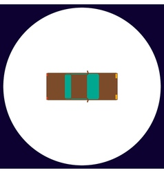 car top computer symbol vector image