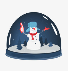 cartoon snowman souvenir toy vector image