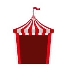 circus tent isolated icon design vector image