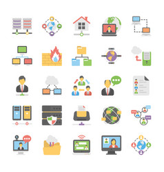 cloud computing icons set 5 vector image