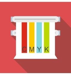 Colored cmyk picker icon flat style vector image