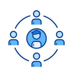 community line icon vector image
