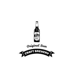 craft beer bottle vector image vector image