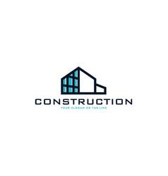 Creative design logo construction vector