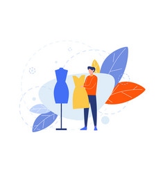 Creative profession hobclothier couturier vector