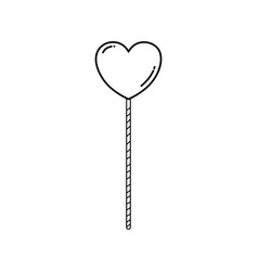cute heart in stick vector image