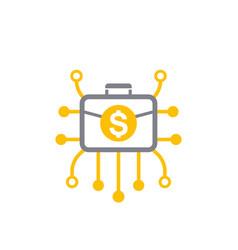 diversified portfolio icon vector image