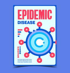 Epidemic disease creative advertise banner vector