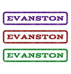 evanston watermark stamp vector image