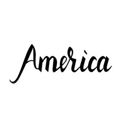 fashionable inscription brush america vector image