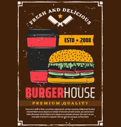 Fast food hamburger and coffee vector