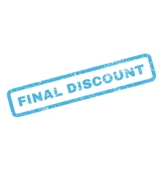 Final Discount Rubber Stamp vector image