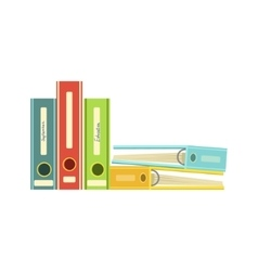 Five Colorful File Folders vector