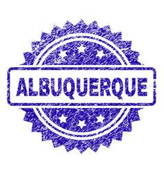 grunge albuquerque stamp seal vector image