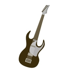 guitar electric musical instrument icon vector image