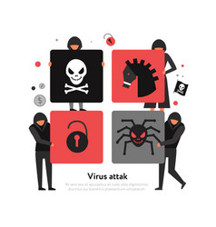 hackers puzzle vector image