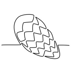 hand-drawn pine cone in one continuous line vector image