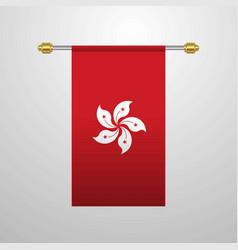 Hongkong hanging flag vector
