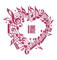 I love music concept single color design vector image
