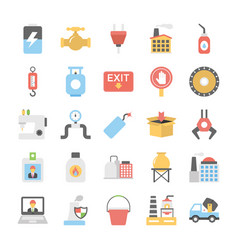 Icons pack of industrial and construction vector