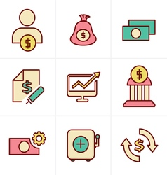 Icons Style Icons Style Finance icon set vector image