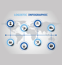 Infographic design with logistic icons vector