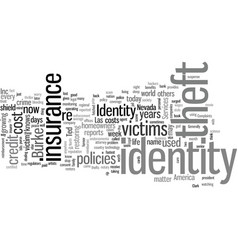 insurance for identity theft victims vector image