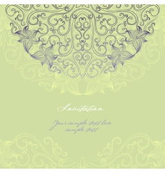 Invitation card 2 vector image
