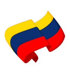 Isolated flag of colombia vector