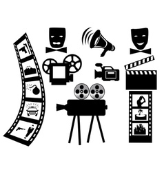 items for shooting movies vector image