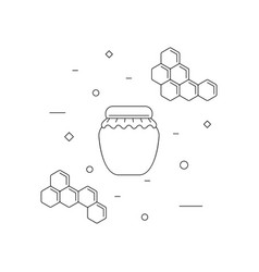 Jar of honey linear icon vector